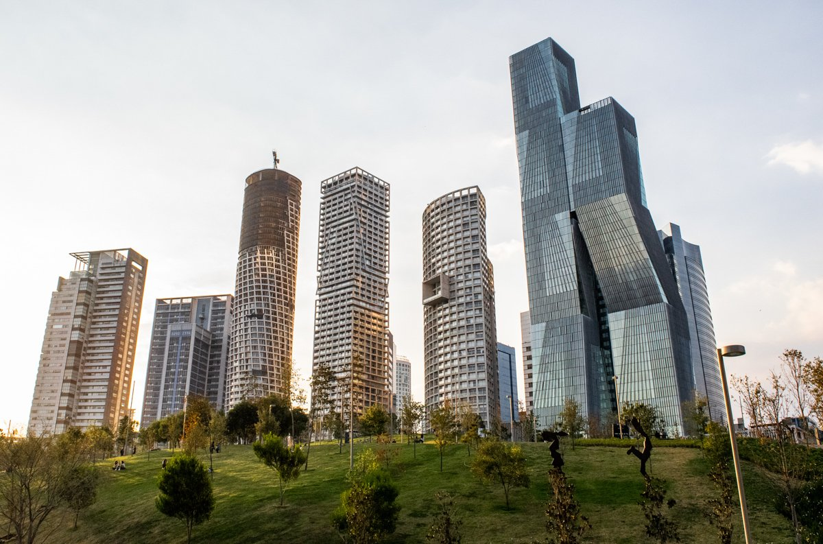 the best neighborhoods in mexico city include Santa Fe with its modern skyscrapers