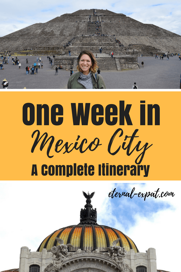 A one week Mexico City itinerary - what to do in Mexico City for a week trip.