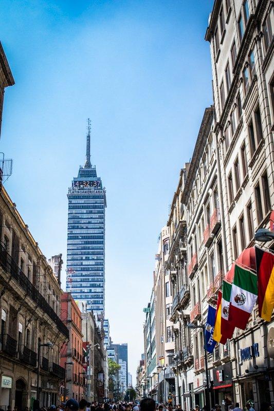 torre latino americana building in Mexico City