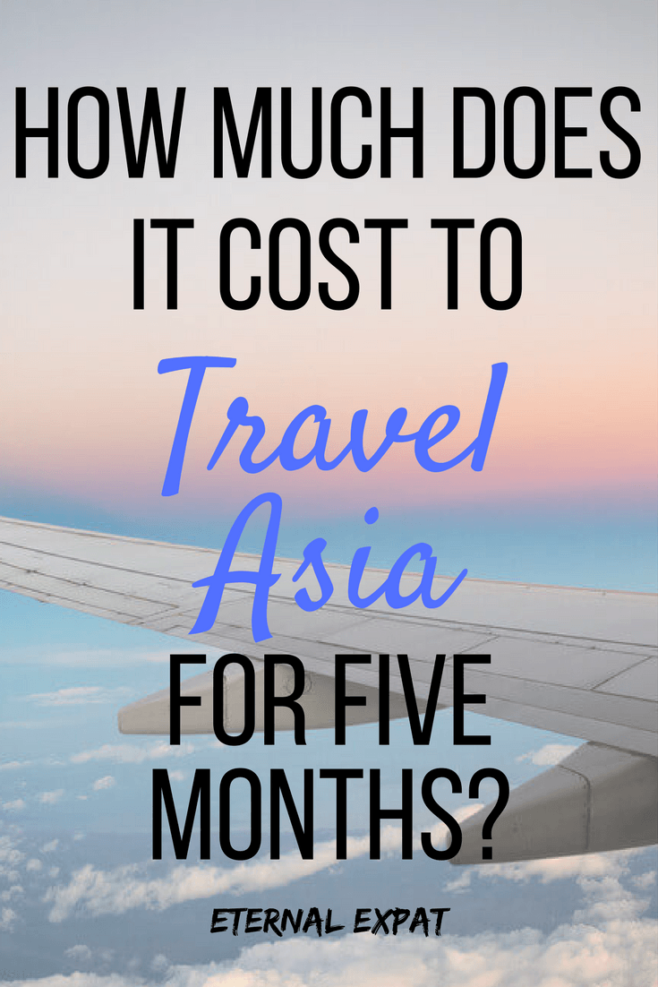 how much does it cost to travel asia