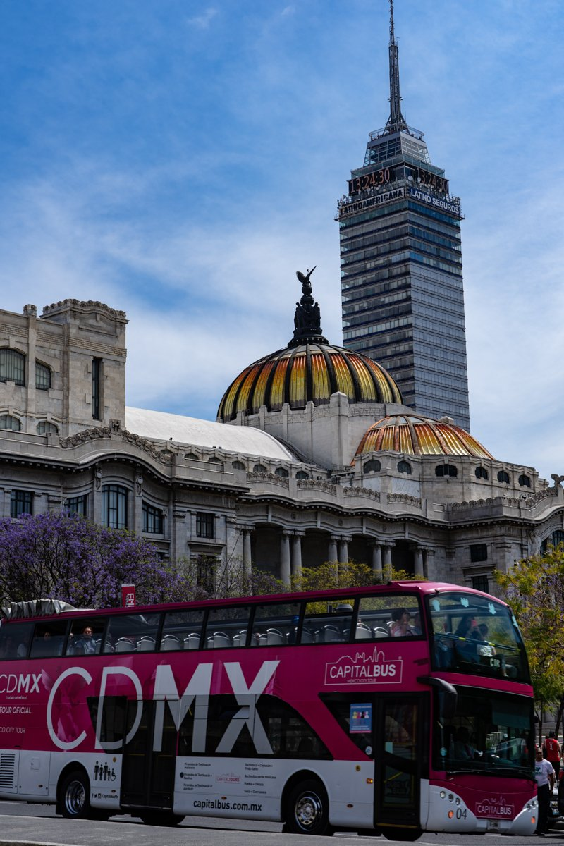 moving to Mexico City means learning the bus network and seeing these incredible buildings ever day!