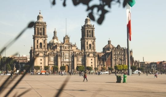 public transport in mexico city will get you right to the zocalo or main square