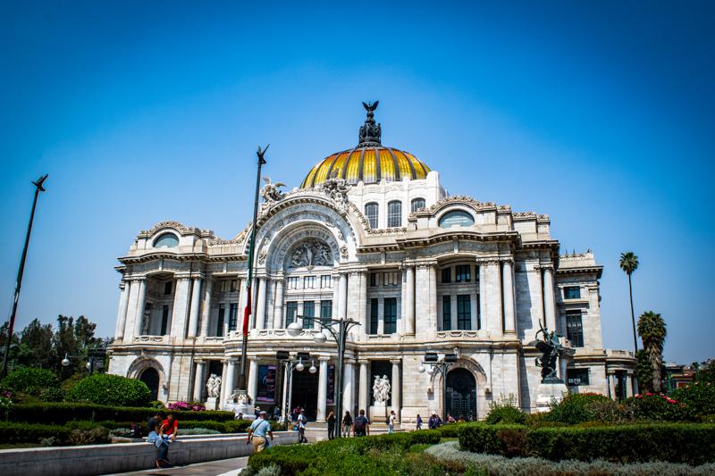 bellas artes building in mexico city