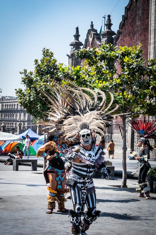Aztec dancer in Mexico City Zocalo