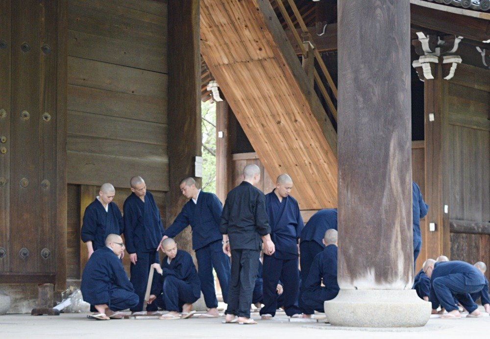 photo of Japanese monks