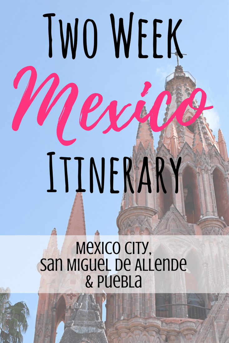 two week mexico itinerary
