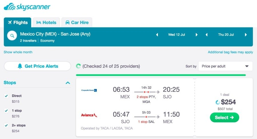 book flights with skyscanner