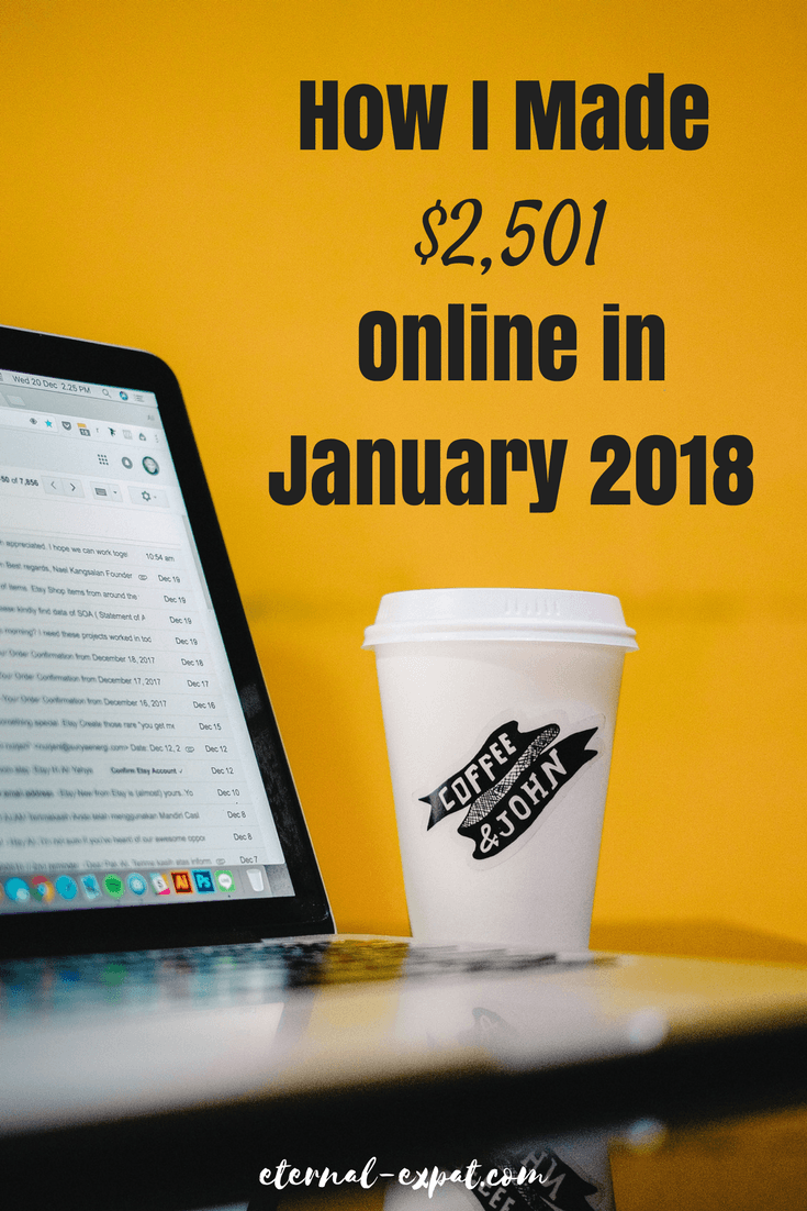 How I Make Money as a Digital Nomad: This is my January 2018 income report where I tell you how I make money blogging, how I make money as a copywriter and how I make money as a freelance writer. All of my secrets revealed!