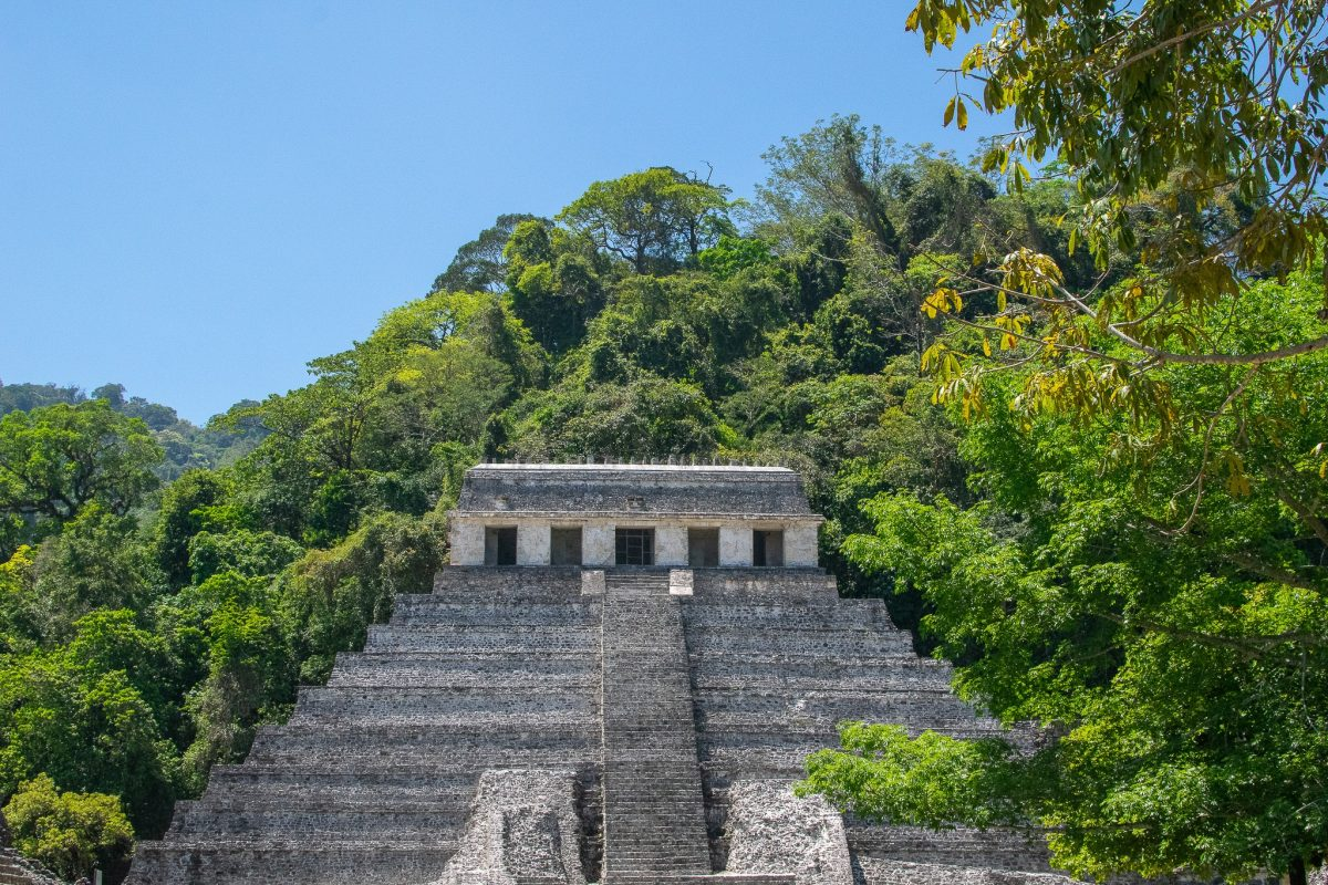 the ruins in palenque mexico