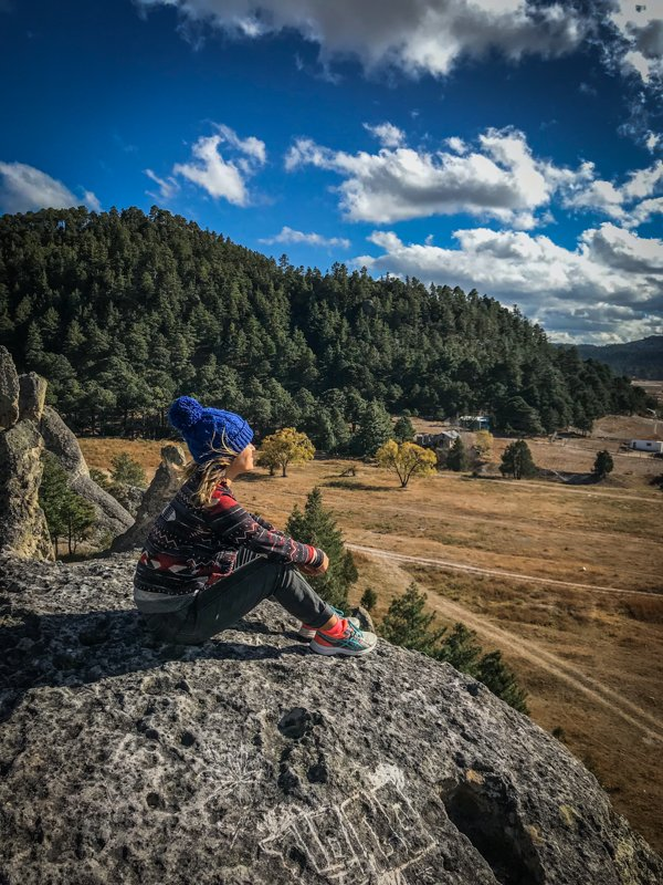 taking in the views of Creel near Copper Canyon