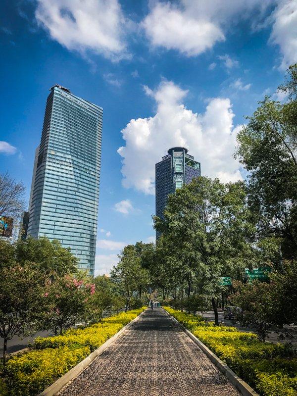 skyline in Mexico City