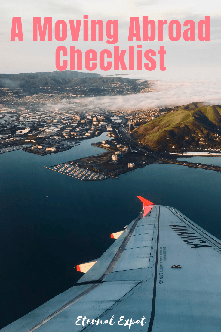 a moving abroad checklist - a guide to help you move abroad with much less stress - figure out what you need to do in order to move to a new country - I've done it 5 times so I hope I can help!