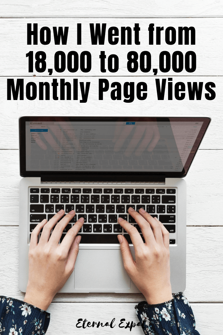 How I went from 18,000 to 80,000 monthly pageviews on my blog. If you want to know how to grow your blog audience, check out some of the ways that I increased my pageviews in less than a year - it's all about SEO, pinterest, getting help and learning how to manage your email marketing!