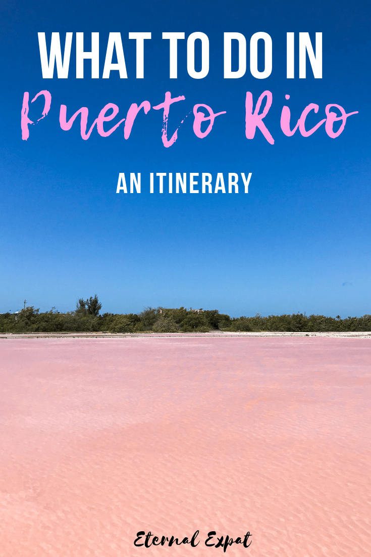 Wondering what to do in Puerto Rico? Check out this Puerto Rico itinerary to help you plan your travels around the island to rincon, san juan, culebra, vieques, and the pink lakes!
