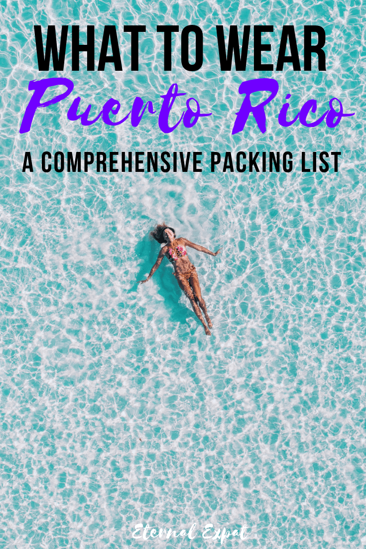 What to Wear in Puerto Rico - a complete packing list for Puerto Rico so that you know what to wear to the beach, in the jungle, and in the cities - if you are planning a trip to San Juan Puerto Rico here's what you need to pack!