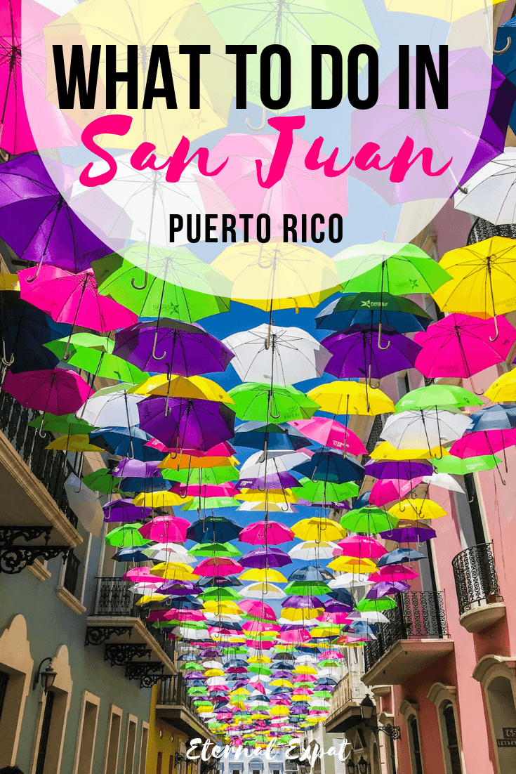 What to do in San Juan Puerto Rico - a huge list of the best things to do in San Juan Puerto Rico including the umbrella street, the best beaches, historical sites, and museums in San Juan worth checking out!