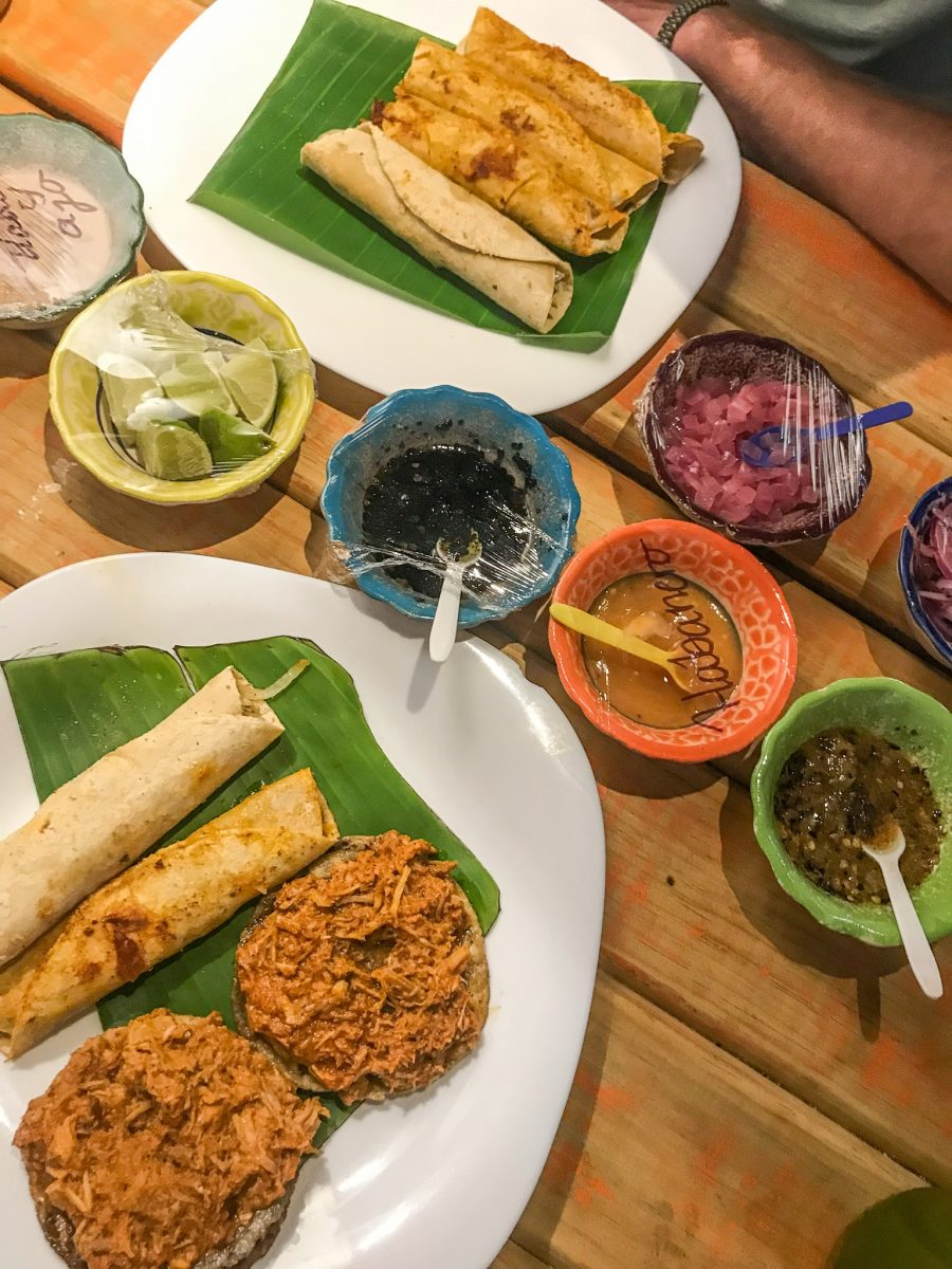 the food we had at la habanerito in mexico city