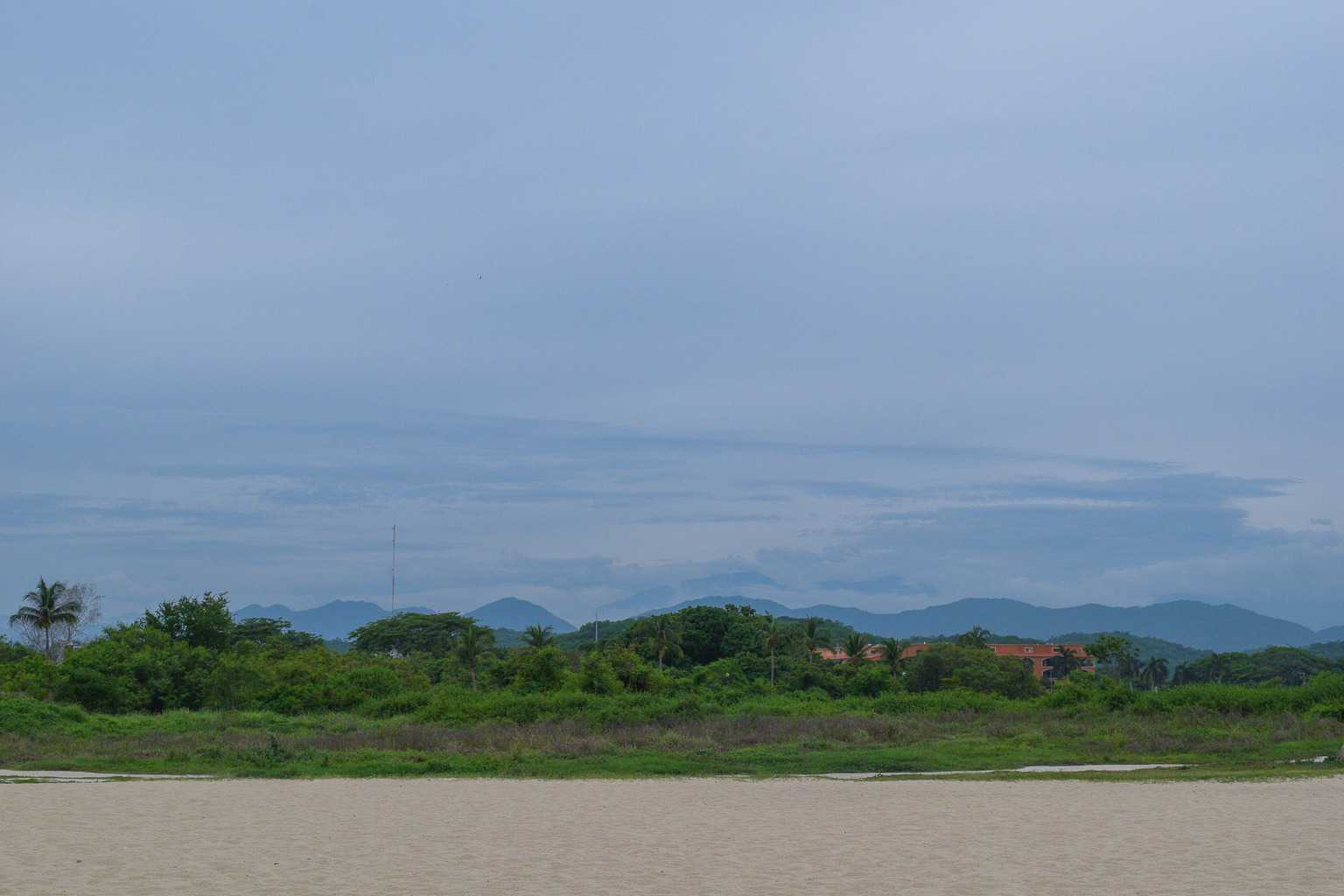 views of the hills and jungles in Huatulco