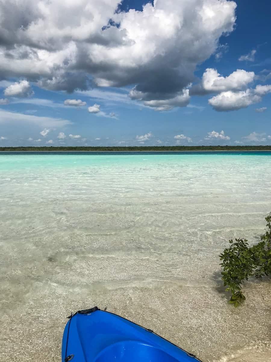 kayaking in bacalar