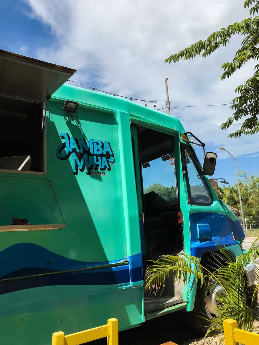 a food truck called jamba maya in lake bacalar