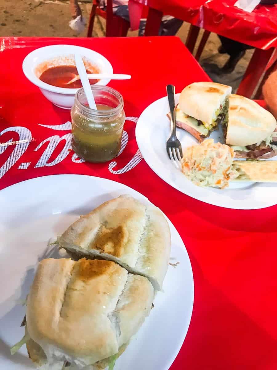 turkey sandwiches from market in merida