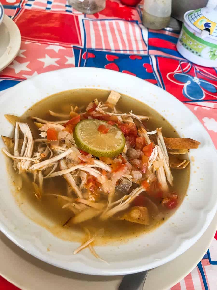 bowl of sopa de lima