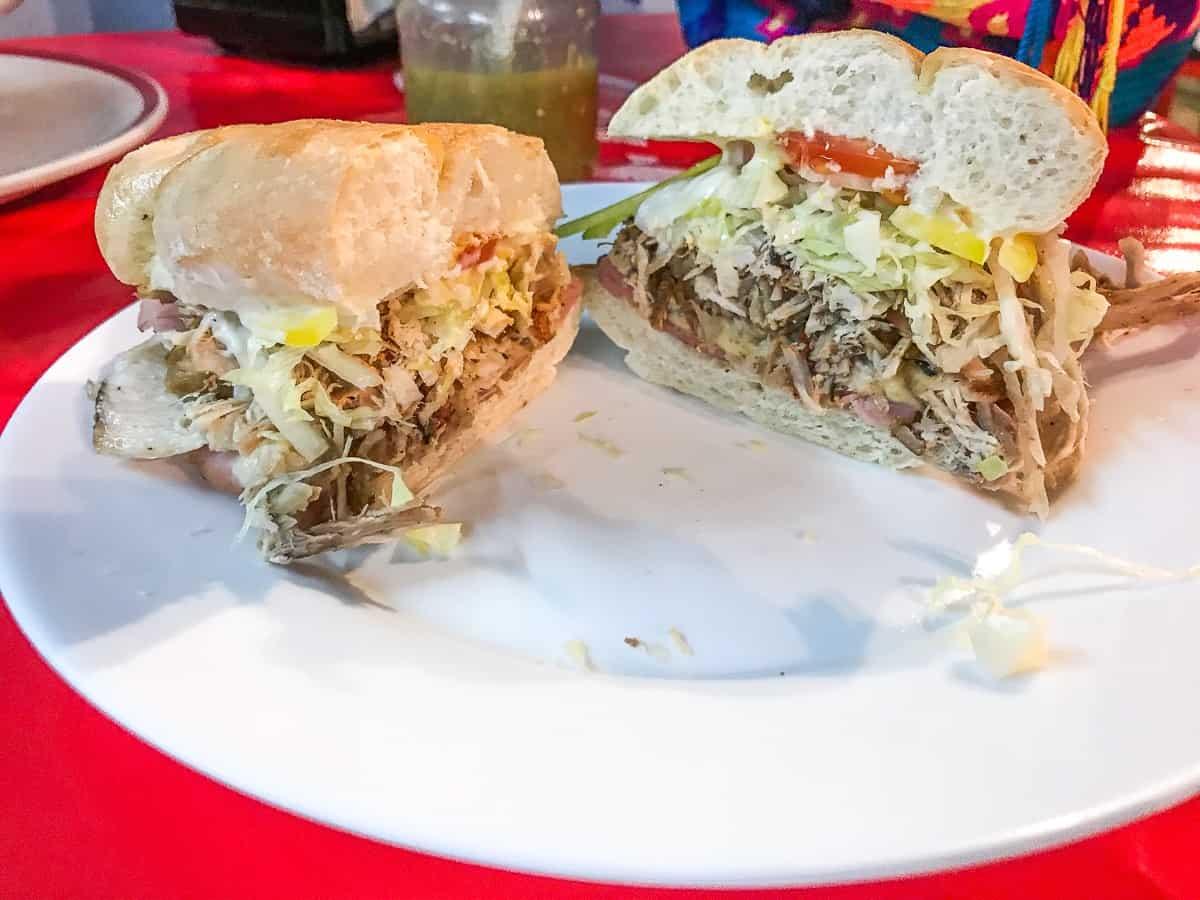 the best turkey sandwich in merida from Loncheria ponderiosa