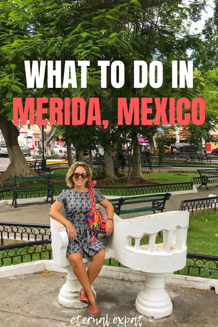 pinterest image for things to do in Merida Mexico