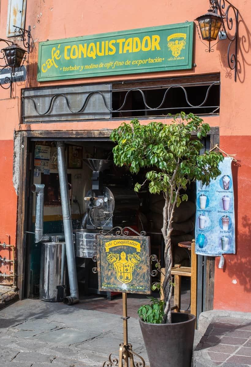 conquistador cafe in guanajuato mexico