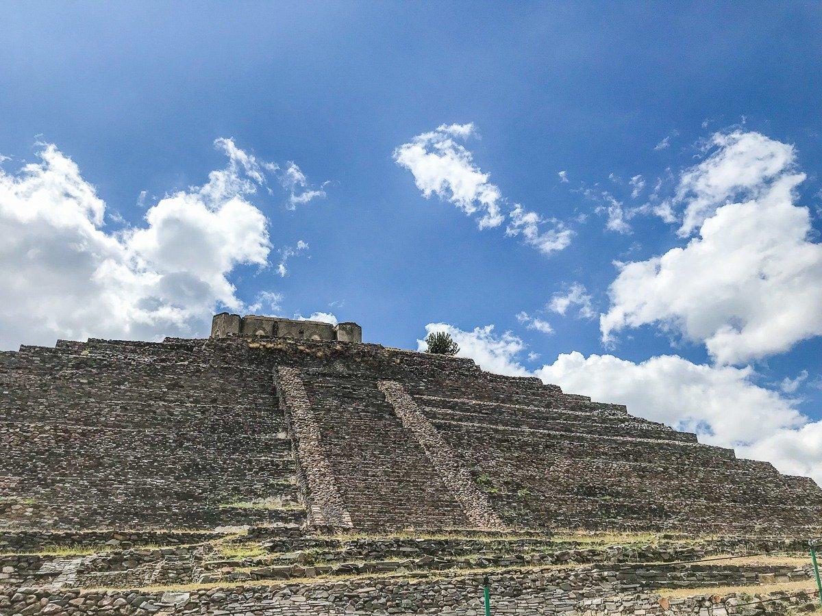 el cerrito, an ancient pyramid in Queretaro