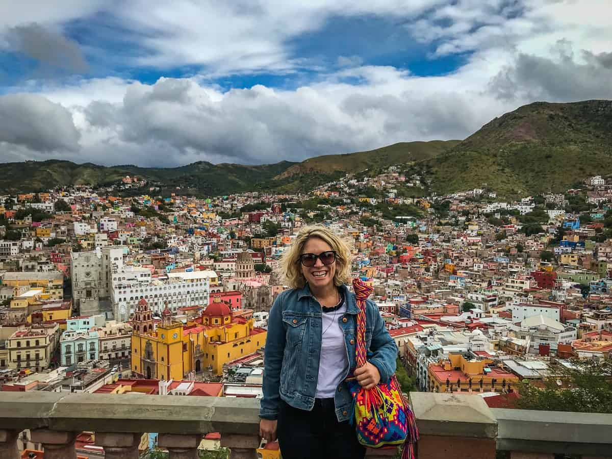 taking in the view of guanajuato mexico from the pipila