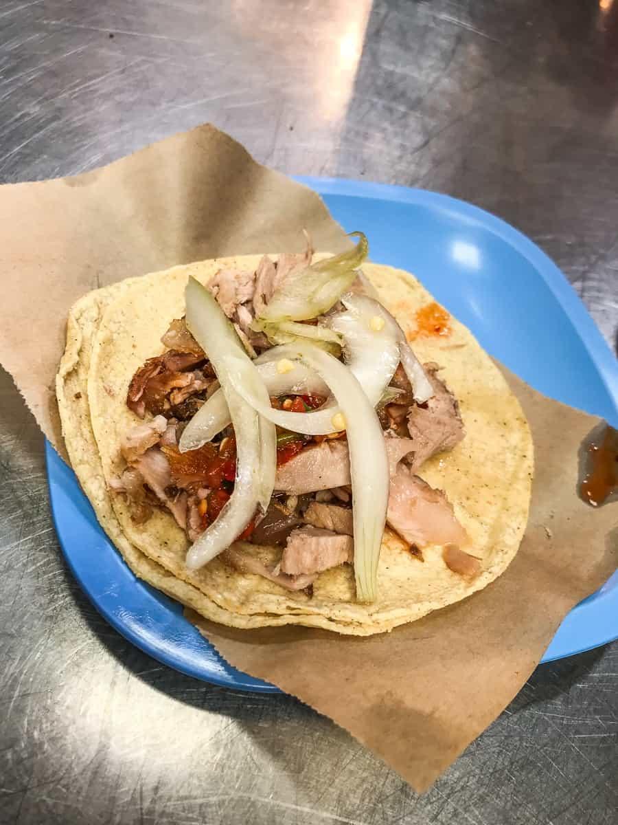 carnitas tacos from carnitasam guanajuato mexico