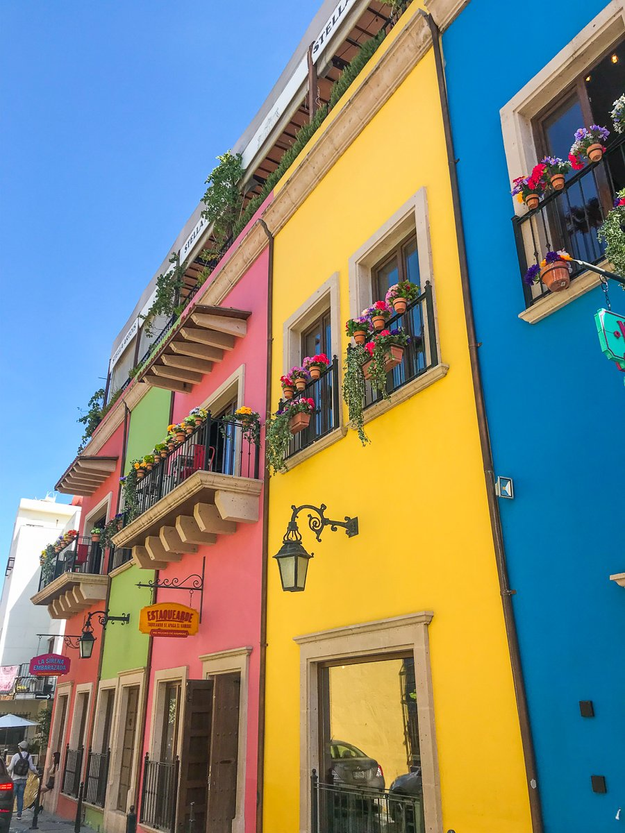 the colorful buildings in barrio antiguo monterrey