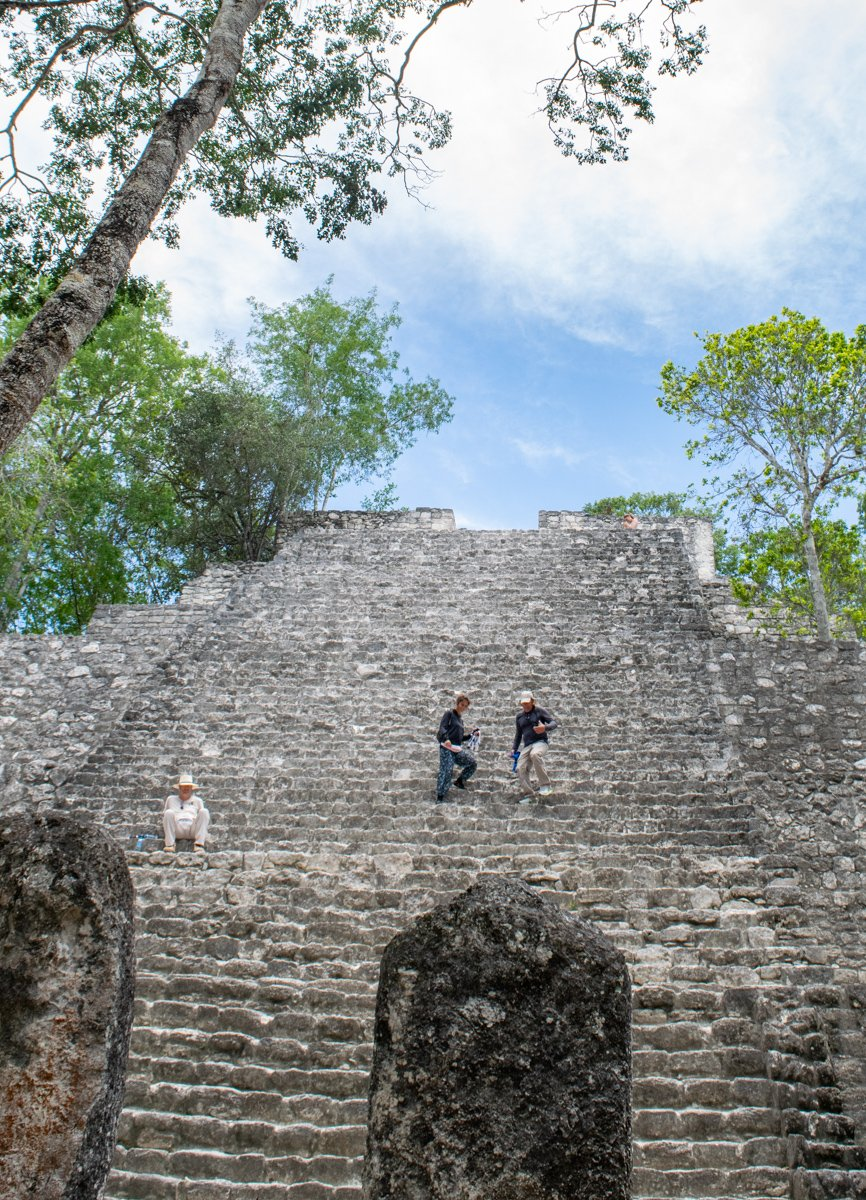 one of the tombs inside the Calakmul biosphere reserve
