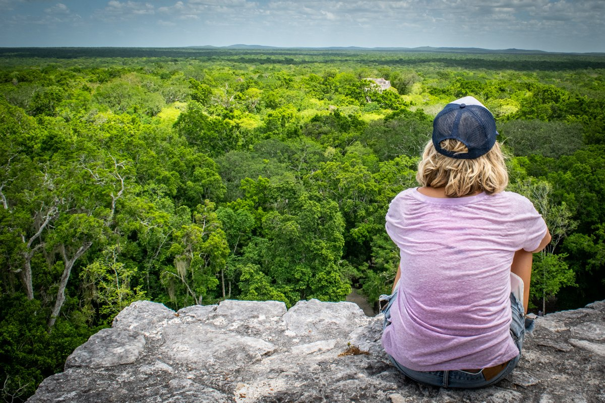 taking in the views of the calakmul biosphere reserve