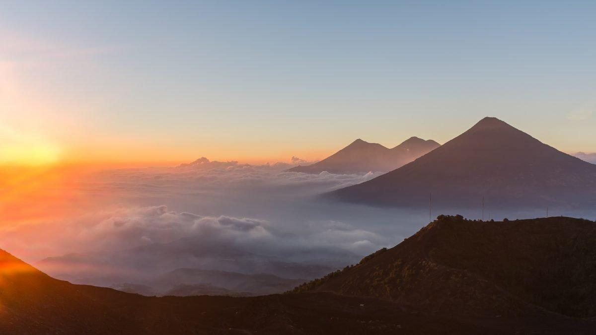 lake atitlan mountains guatemala