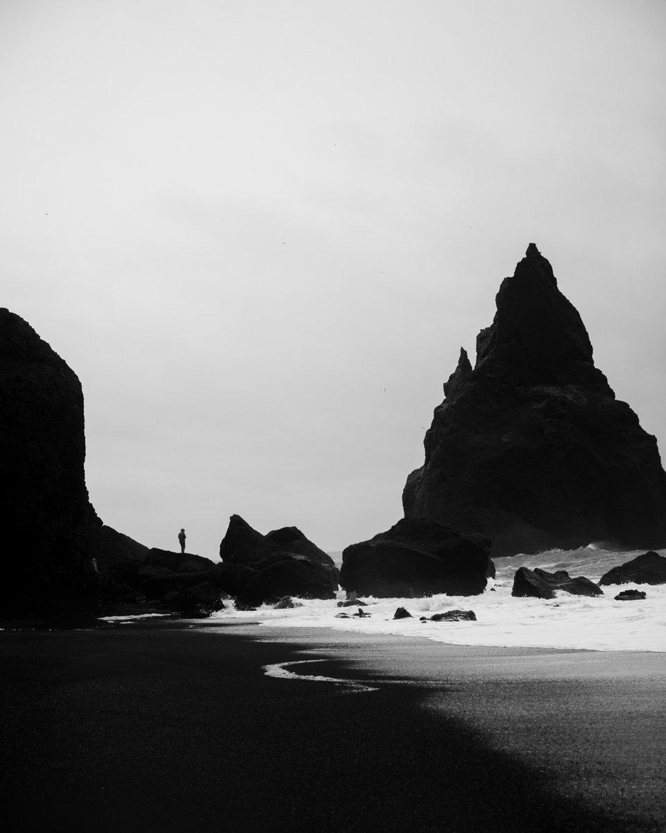puerto vallarta beach in black and white