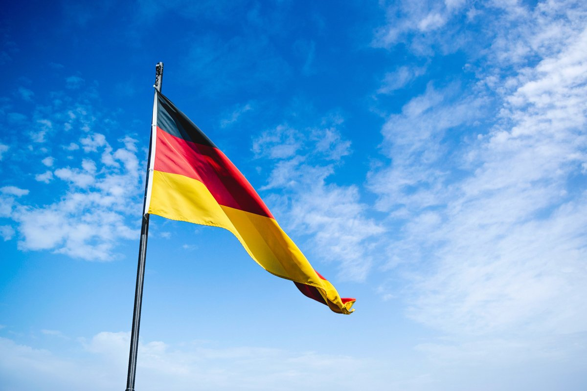 You'll see lots of German flags when Living in Germany means