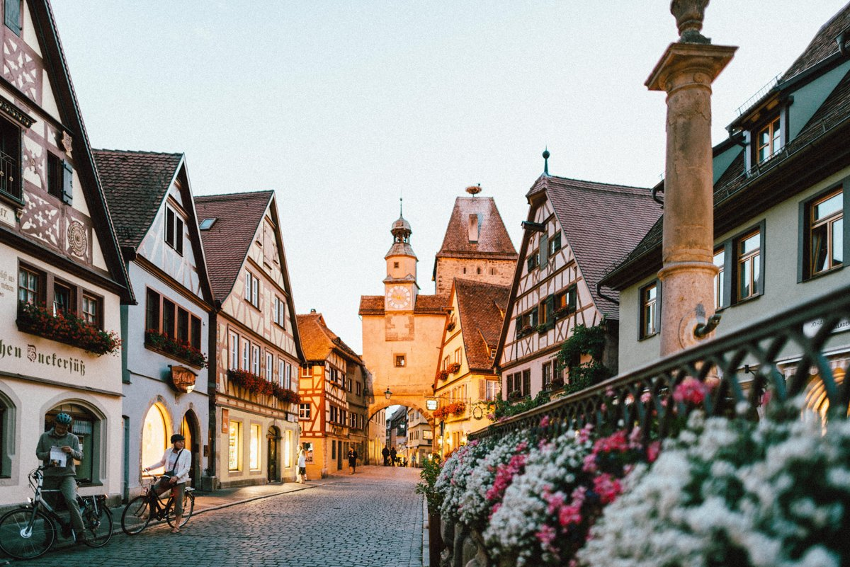 germany towns have small and beautiful streets like this