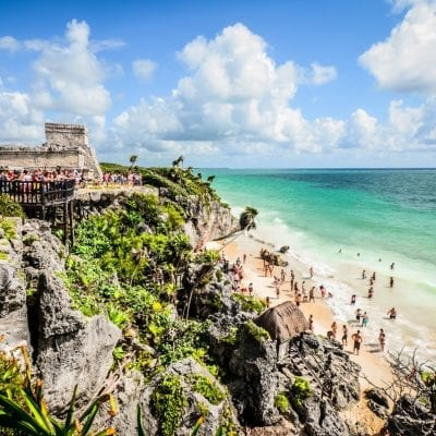 things to do in Tulum like visit the archaeological site