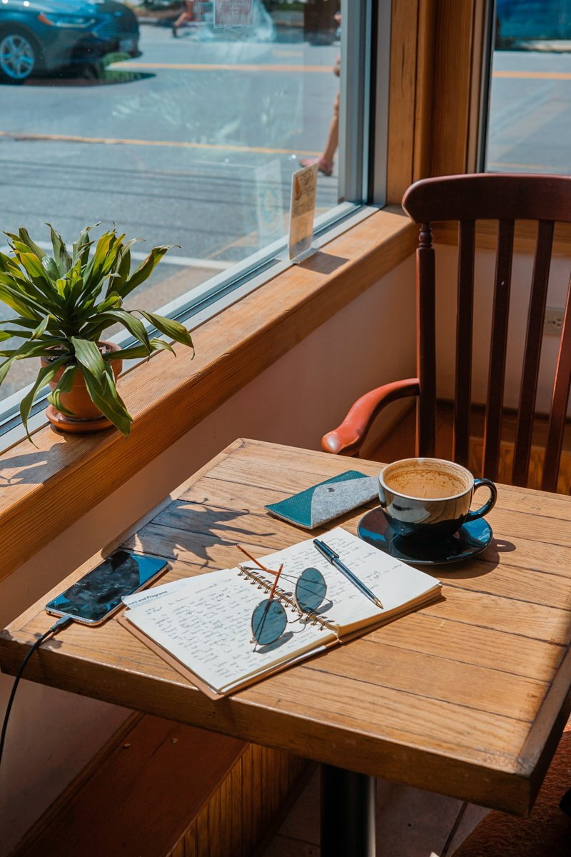 travel journal ideas will come to you as you sit in a cafe with your travelers notebook
