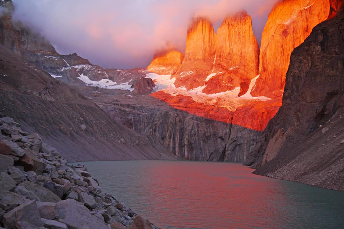 the best chile itinerary for torrest de paine at sunrise