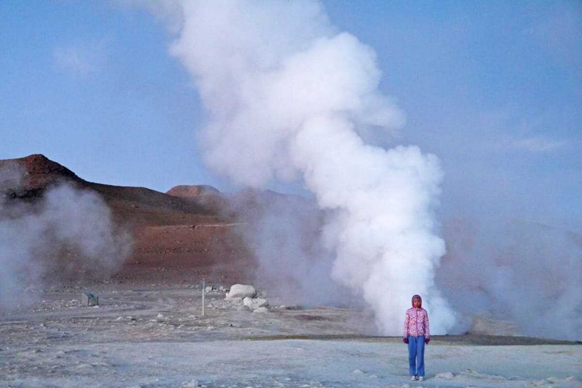 the best chile itinerary includes blow holes through the Atacama Desert