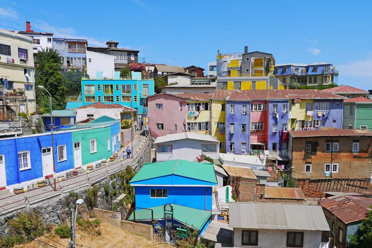 colorful buildings in chile