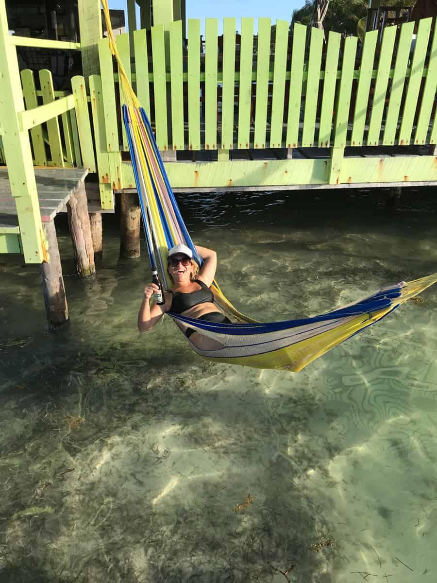 in a hammock at sip n sip