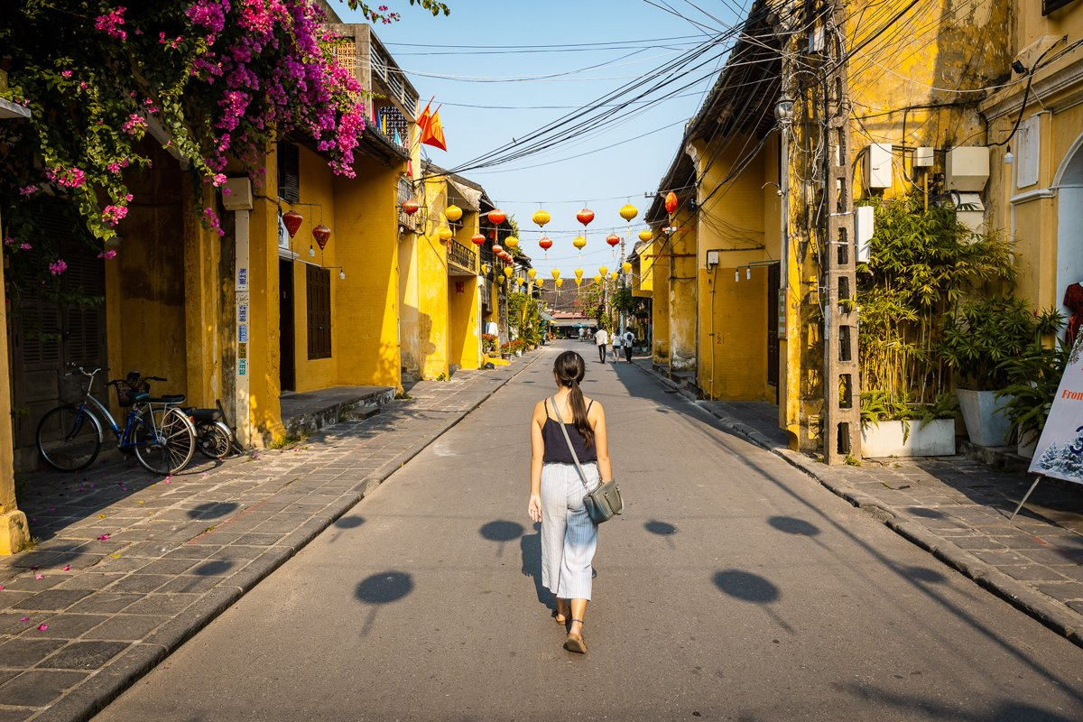 walking down the streets of hoi an