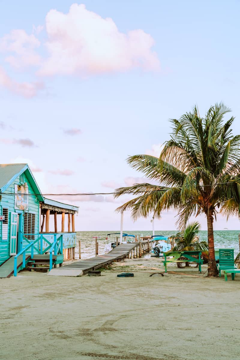 things to do in Caye caulker include relaxing and watching the sunset