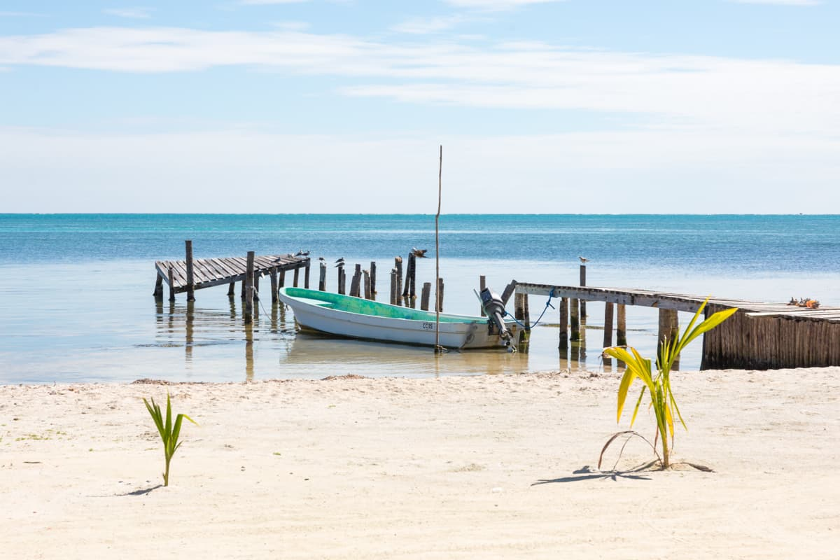 relaxings and looking at the ocean is one of the best things to do in caye caulker