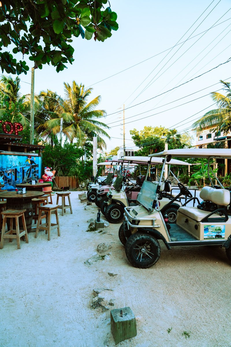 riding golf carts is one of the best things to do in san pedro belize