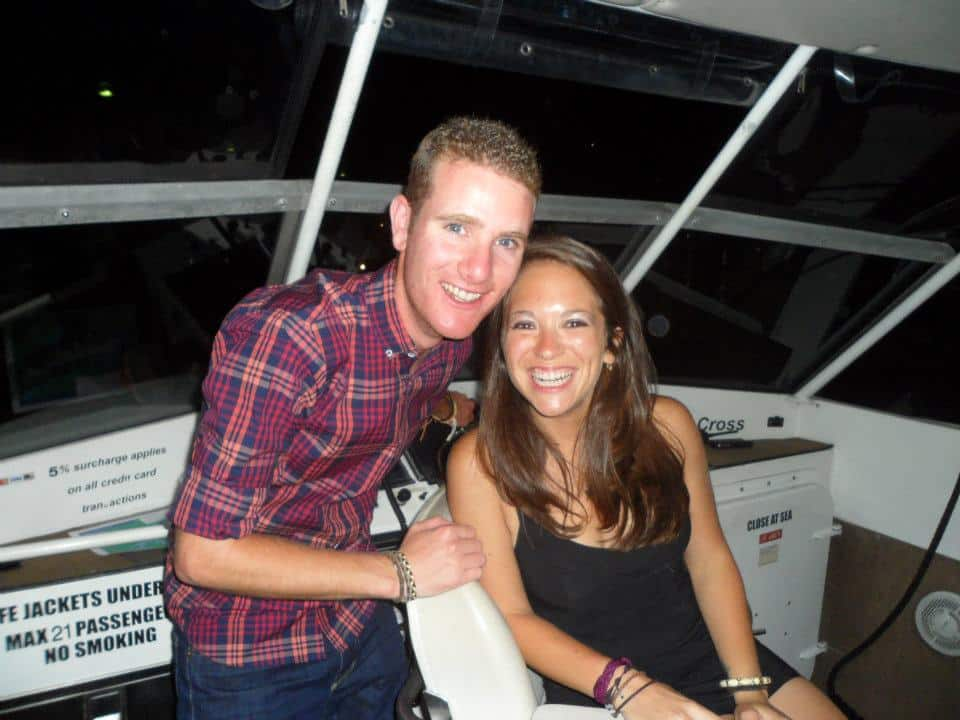 on a boat in the sydney harbour for new years eve